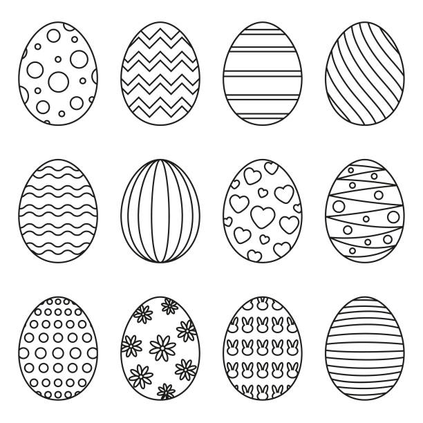 Easter eggs Eps10 vector illustration with layers (removeable) and high resolution jpeg file included (300dpi). egg stock illustrations