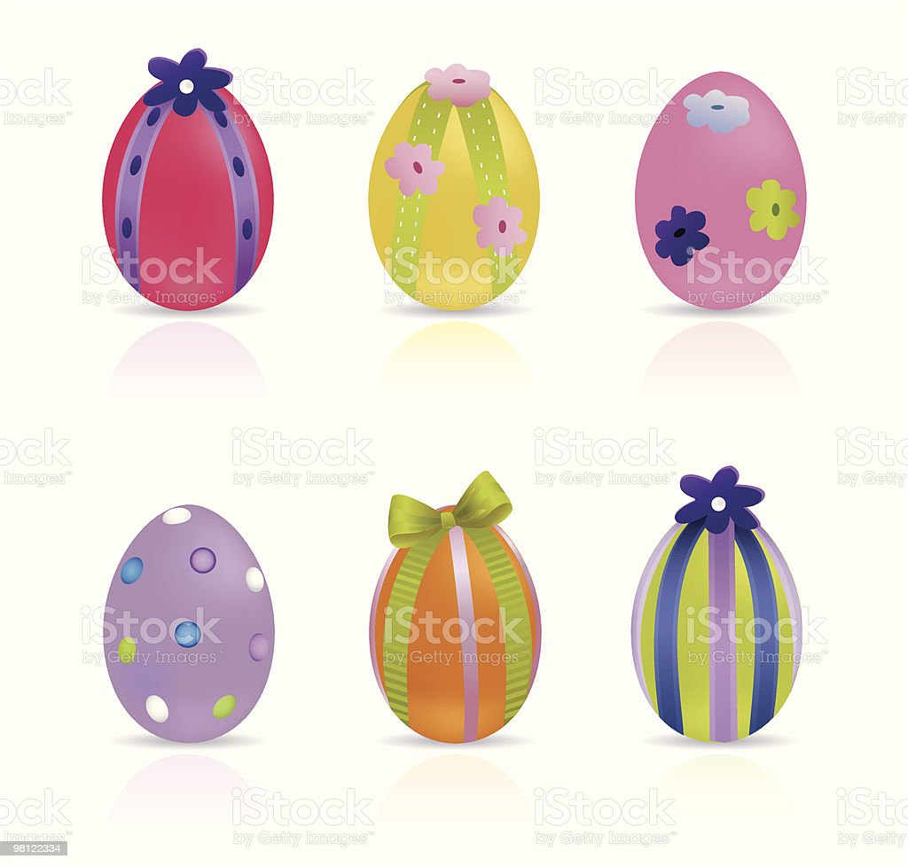 Easter Eggs royalty-free easter eggs stock vector art & more images of animal