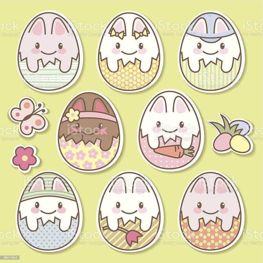 Uova di Pasqua uova di pasqua - immagini vettoriali stock e altre immagini di animale royalty-free