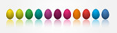 Easter eggs with different colors. Colored three dimensional eggs. Vector illustration, Easter eggs with different colors. Colored three dimensional eggs. Vector illustration
