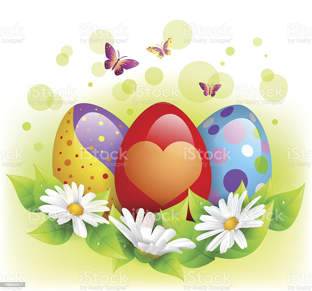 Easter eggs with flowers royalty-free easter eggs with flowers stock vector art & more images of animal egg