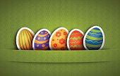 Easter labels set with green background.  High Resolution JPG,CS5 AI and Illustrator EPS 10 (with shadow effects) included. Each element is named,grouped and layered separately.