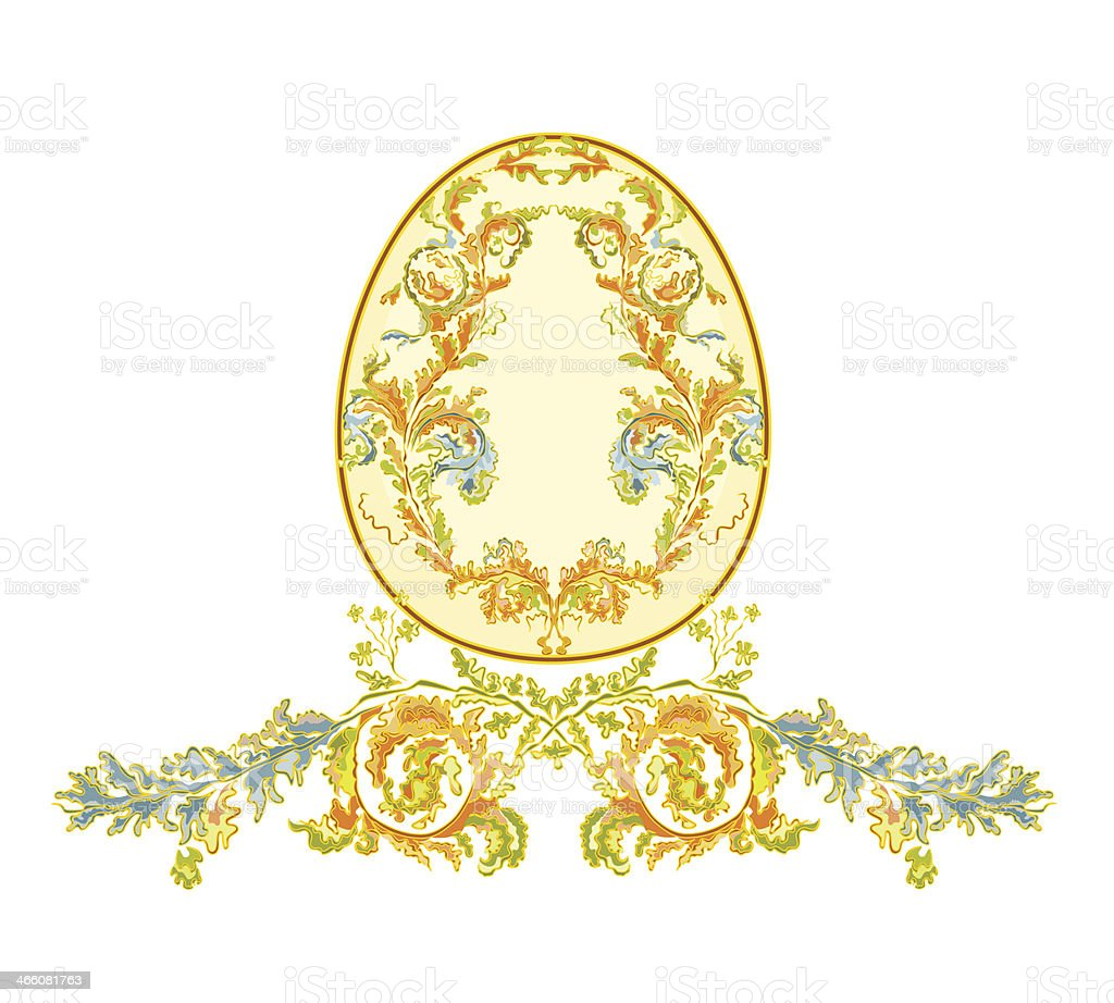 Easter eggs with ornaments vintage royalty-free stock vector art