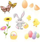 Spring and Easter elements separately grouped.