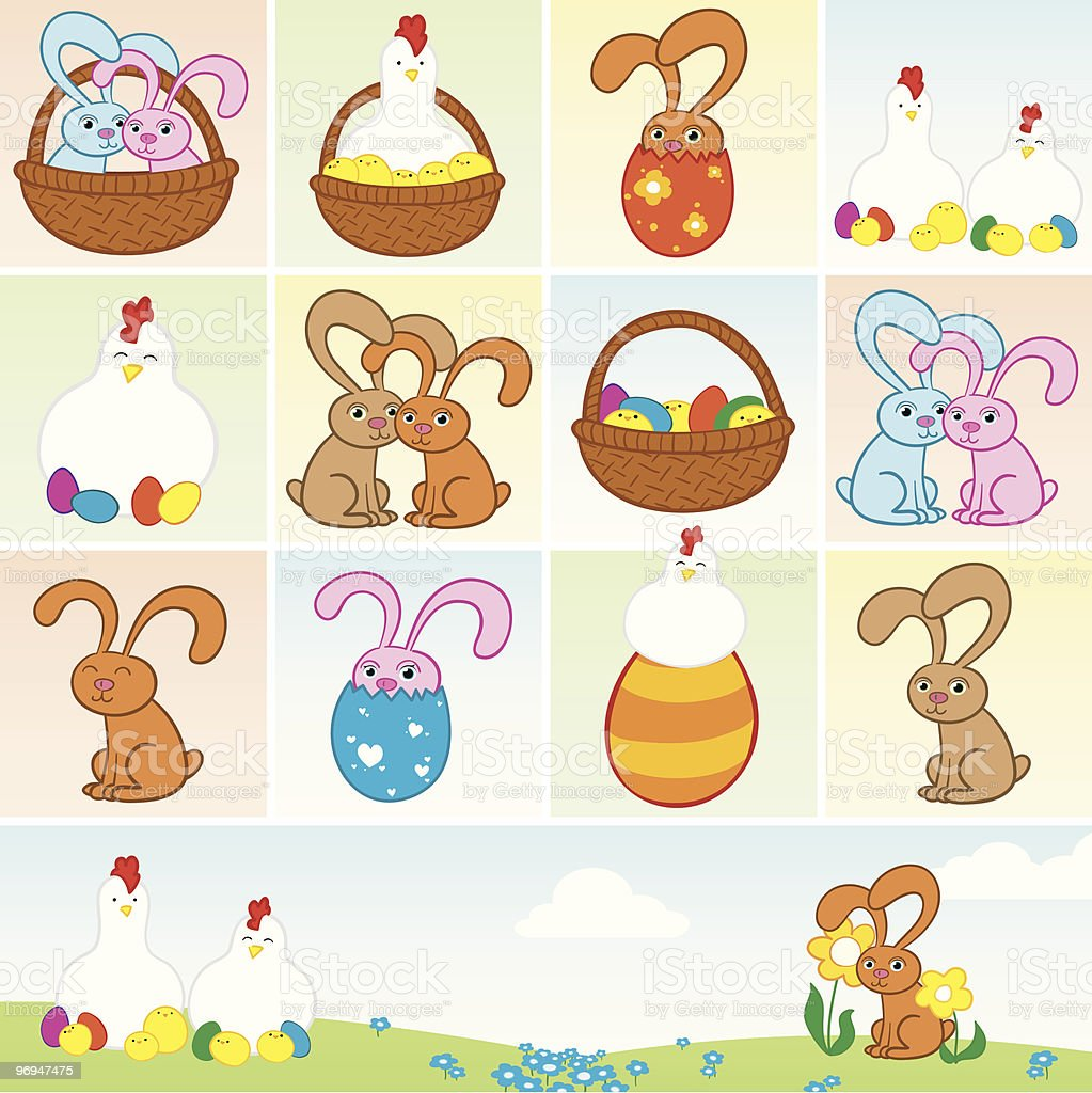 Easter elements royalty-free easter elements stock vector art & more images of affectionate