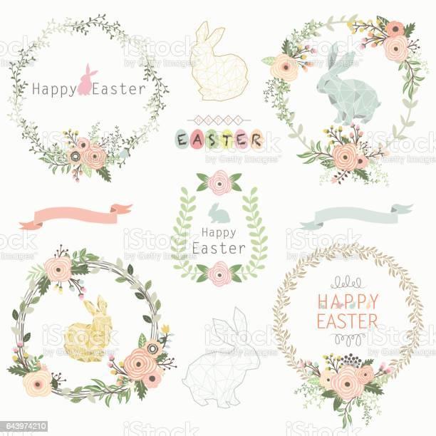 Easter floral wreath vector id643974210?b=1&k=6&m=643974210&s=612x612&h=wx m j2ogk8efbaoxkpk07ezfyvmj1e aczhppzia1m=