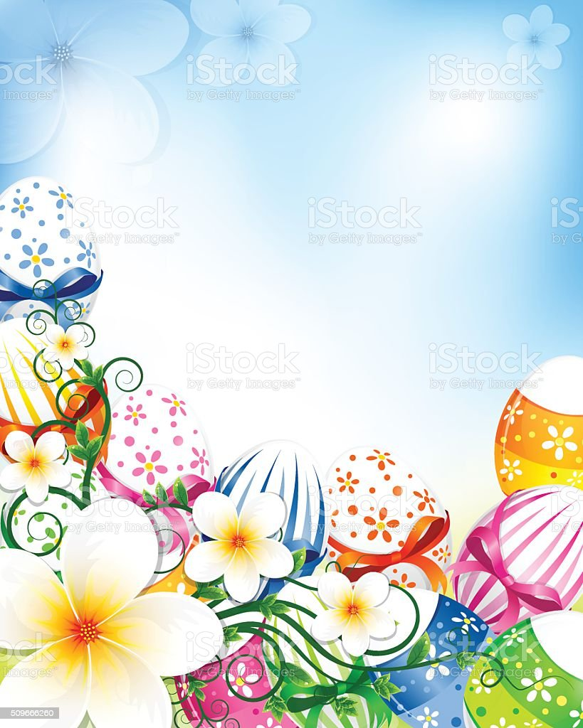Easter Frame Stock Vector Art & More Images of Blue 509666260 | iStock
