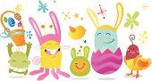 Easter funny monster