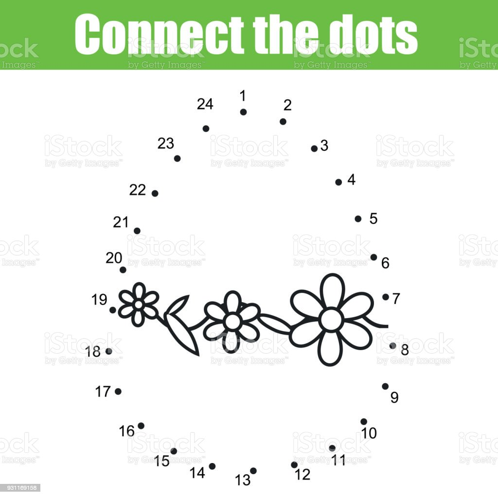 Easter Game Connect The Dots By Numbers Children Educational Game ...
