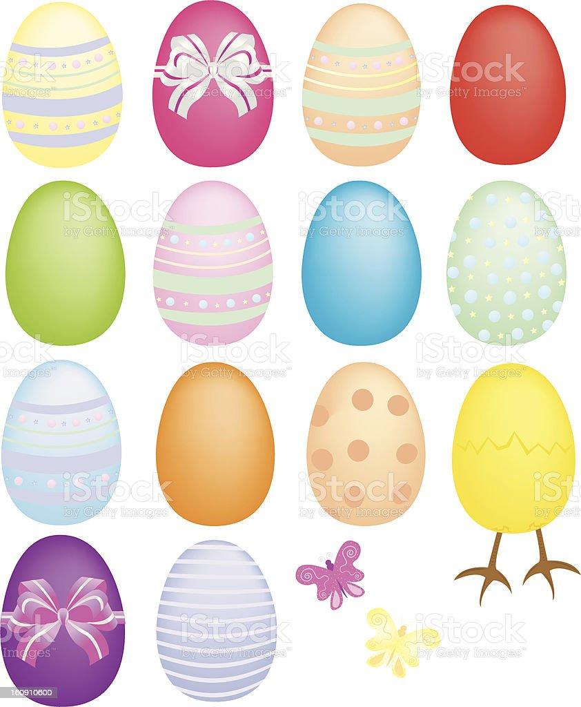 Easter Goodies vector art illustration