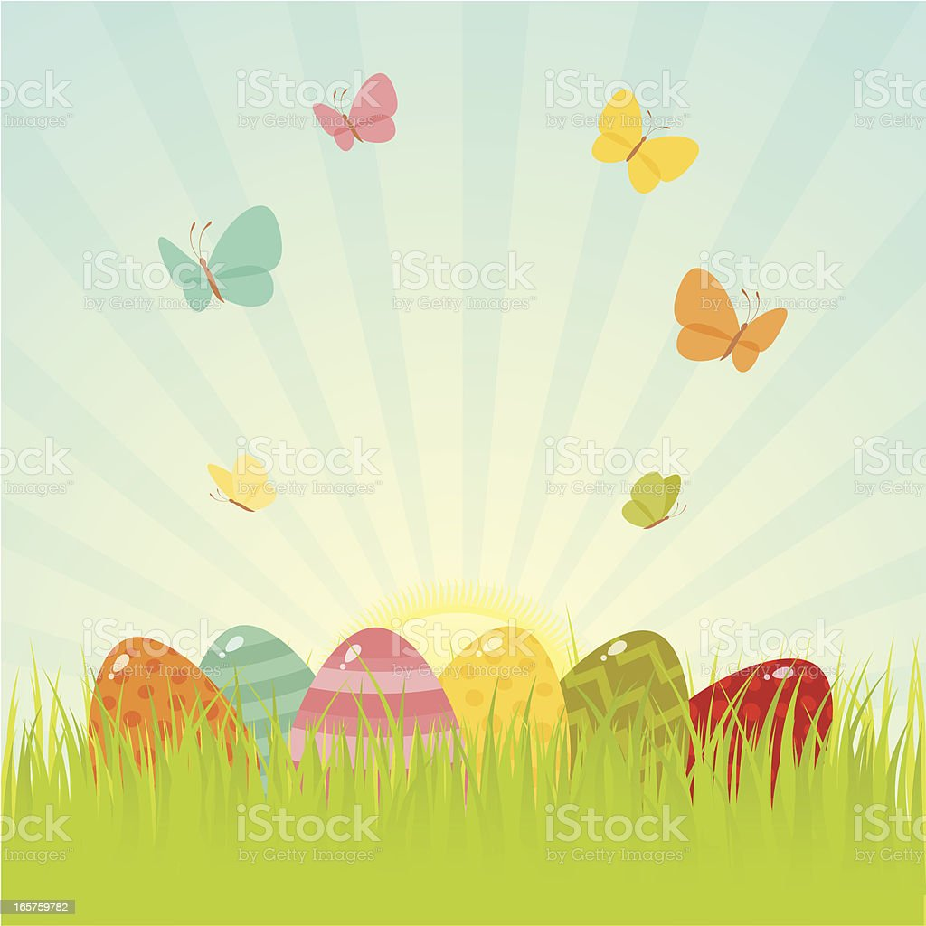 Easter grass royalty-free stock vector art