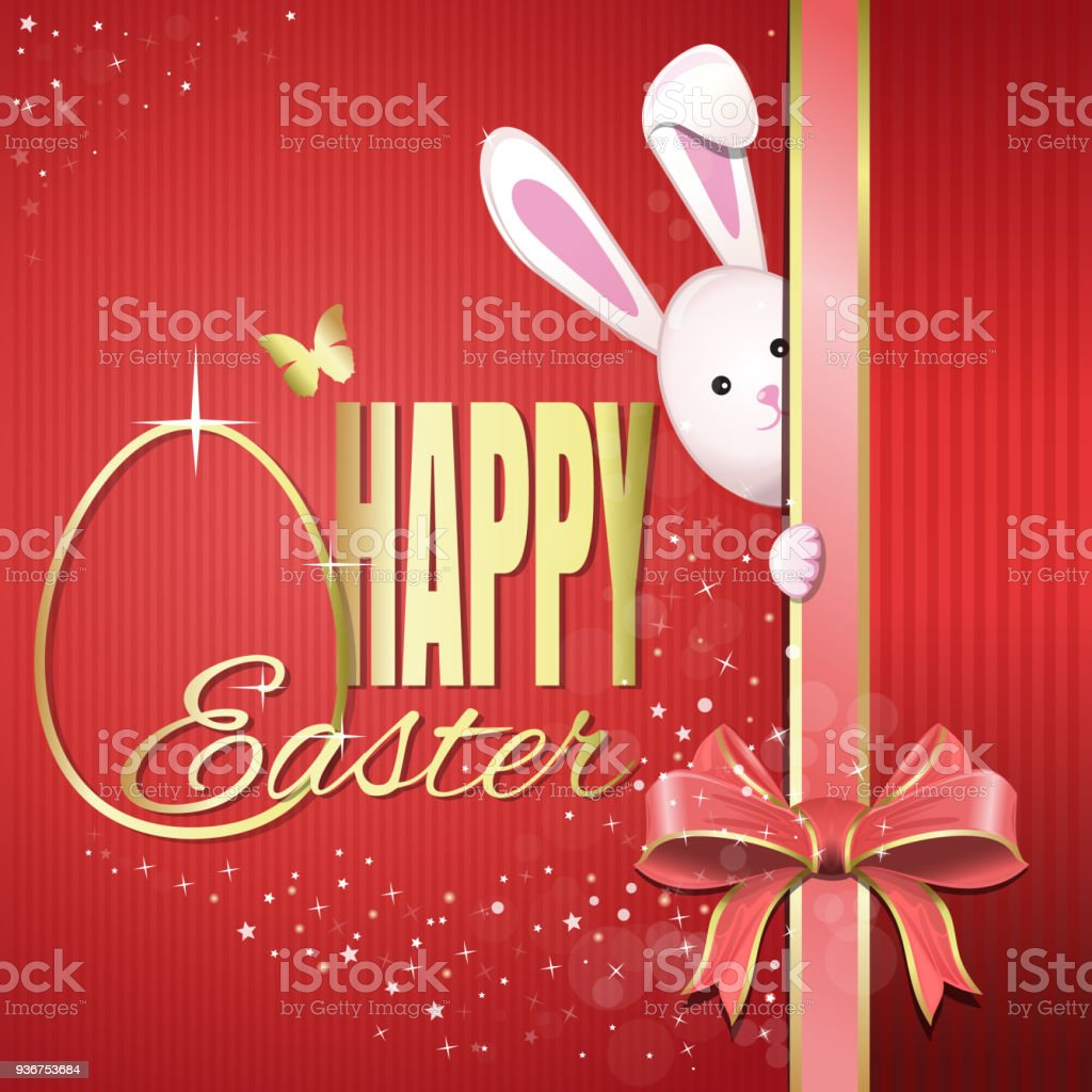 Easter Greeting Card Happy Easter Stock Vector Art More Images Of