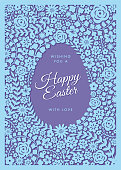 Easter greeting card - Illustration