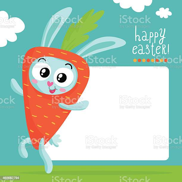 Easter greeting card template with bunny in carrot costume vector id465662794?b=1&k=6&m=465662794&s=612x612&h=s64nyx7thff1ikp3xb4repuns1nma744uzkxzdxy6bk=