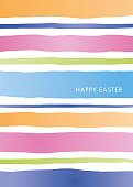 istock Easter Greeting Card template with stripes. 1305505400