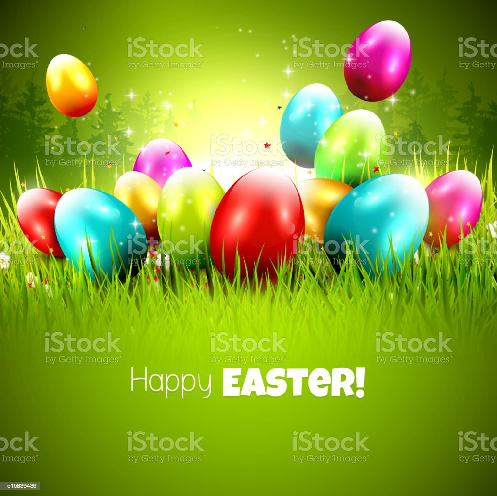 Easter Greeting Card Stock Vector Art More Images Of Animal Egg