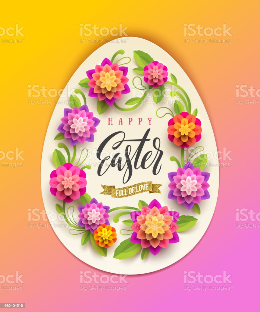 Easter Greeting Card Stock Vector Art More Images Of Artificial