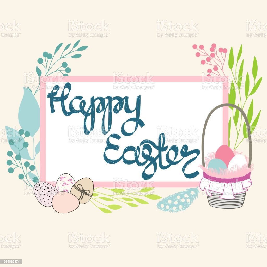 Easter Greeting Card Stock Vector Art More Images Of April