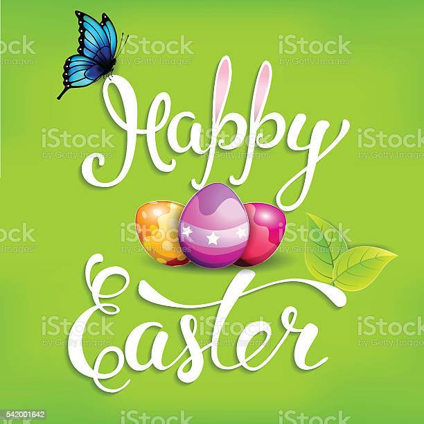 Easter greeting card with easter simbols and handwritten text h vector id542001642?b=1&k=6&m=542001642&s=612x612&h=1yjoc cw8pibonvczhbqtitvjvkuziix9jatvotm5km=
