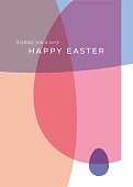 Easter greeting card with eggs. Stock illustration