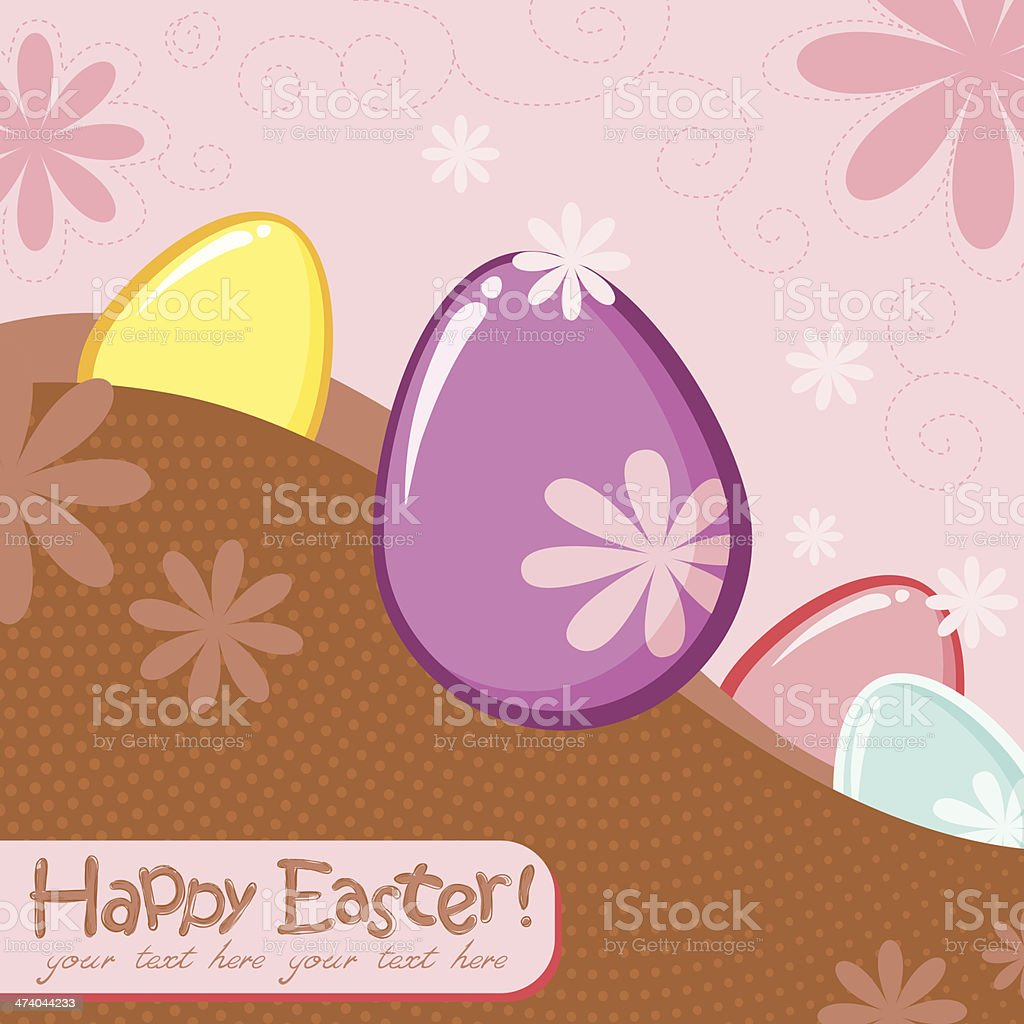 Easter greeting decorative postcard royalty-free easter greeting decorative postcard stock vector art & more images of april
