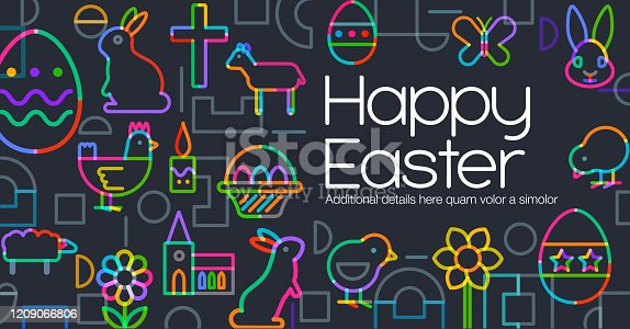 istock Easter Greeting Icons 1209066806