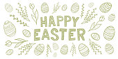 Easter Greetings card. You can edit the colors or sizes easily if you have Adobe Illustrator or other vector software. All shapes are vector