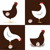 Hen and easter eggs. Please see some similar pictures in my lightboxs: