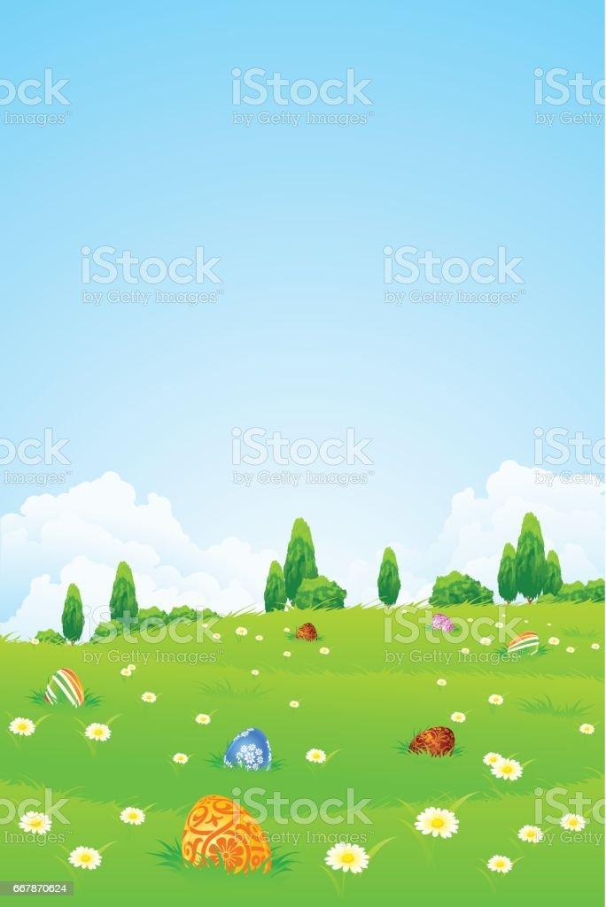 Easter Holiday Background vector art illustration