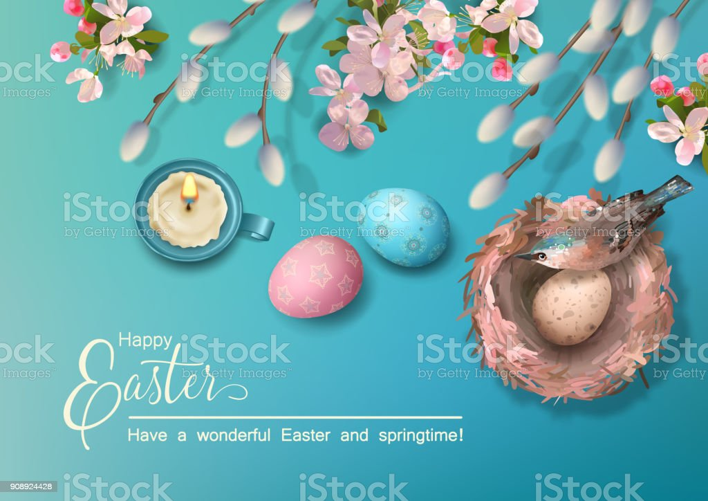 Easter Holiday Background - Royalty-free Above stock vector