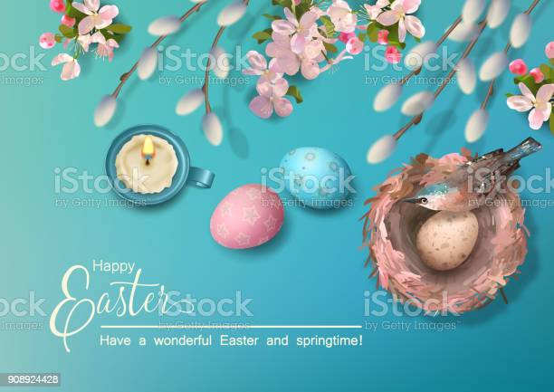Easter Holiday Background Stock Illustration - Download Image Now