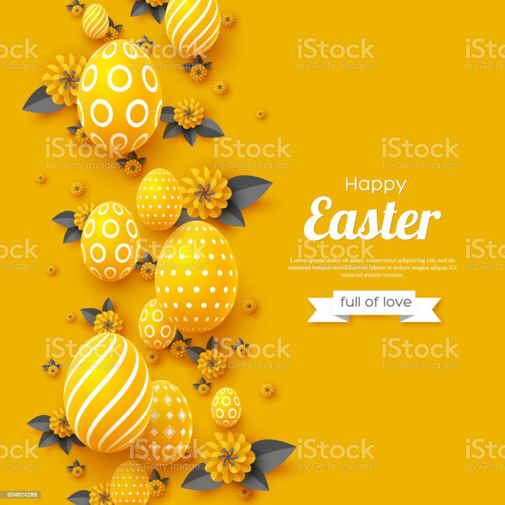 Carte de voeux de vacances de Pâques. - Illustration vectorielle