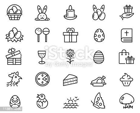 Easter icon set , vector illustration