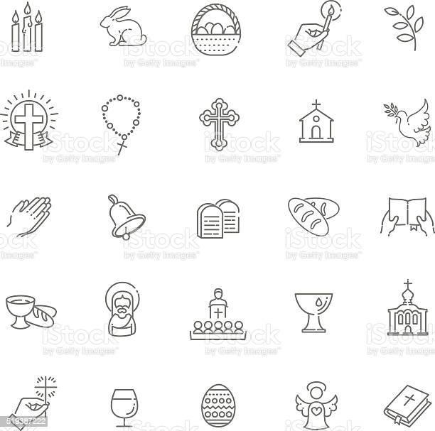 Easter icons set christianity icon set vector id519387222?b=1&k=6&m=519387222&s=612x612&h=lihkl 4pk3aqowwf4nfxfj803 wje1yo0yigea1vgwg=