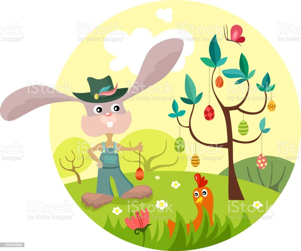 easter illustration royalty-free stock vector art
