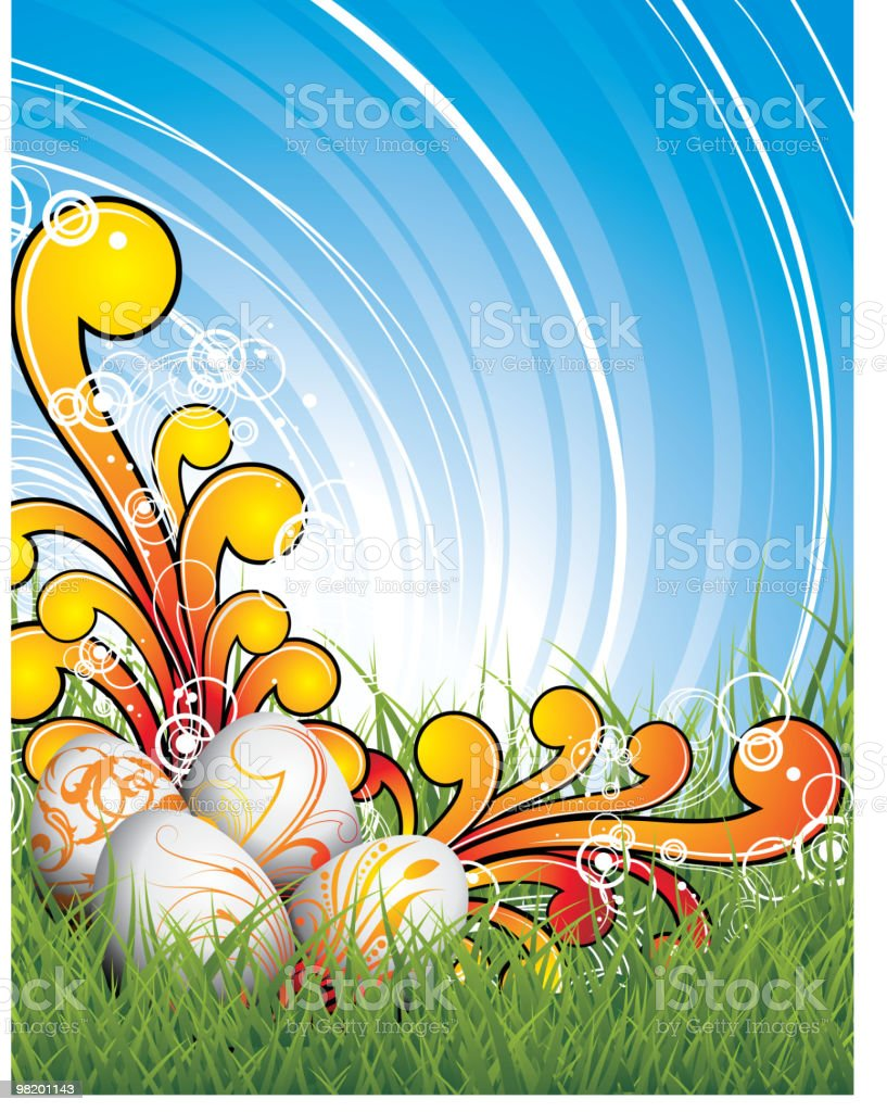 Easter illustration with painted eggs royalty-free easter illustration with painted eggs stock vector art & more images of animal