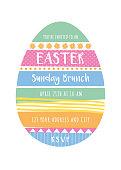 Easter invitation design template - Illustration