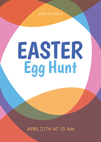 Easter invitation design template.