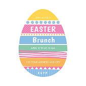 Easter invitation template - Illustration