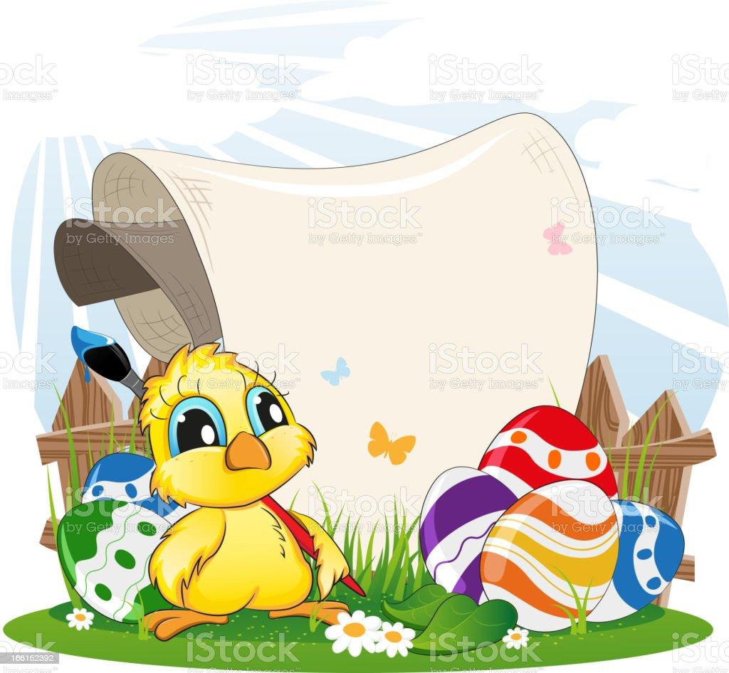 Easter invitation royalty-free stock vector art