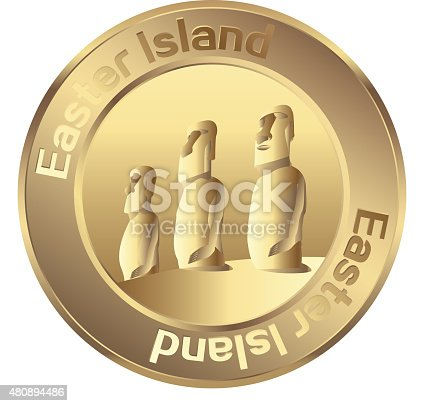 istock Easter island coin 480894486