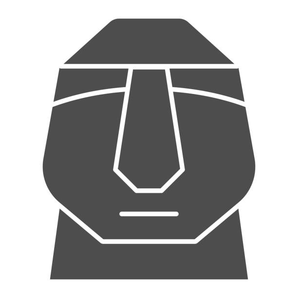 Easter island stone moais solid icon. Easter Island tiki head statue glyph style pictogram on white background. Chile polynesian sculpture for mobile concept and web design. Vector graphics. Easter island stone moais solid icon. Easter Island tiki head statue glyph style pictogram on white background. Chile polynesian sculpture for mobile concept and web design. Vector graphics ancient civilization stock illustrations