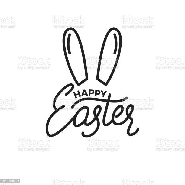 Easter label badge emblem of happy easter linear lettering and rabbit vector id924125228?b=1&k=6&m=924125228&s=612x612&h=k0djhmdydandslvuk6z gozdvdhgmpoahzdqsedvfhm=