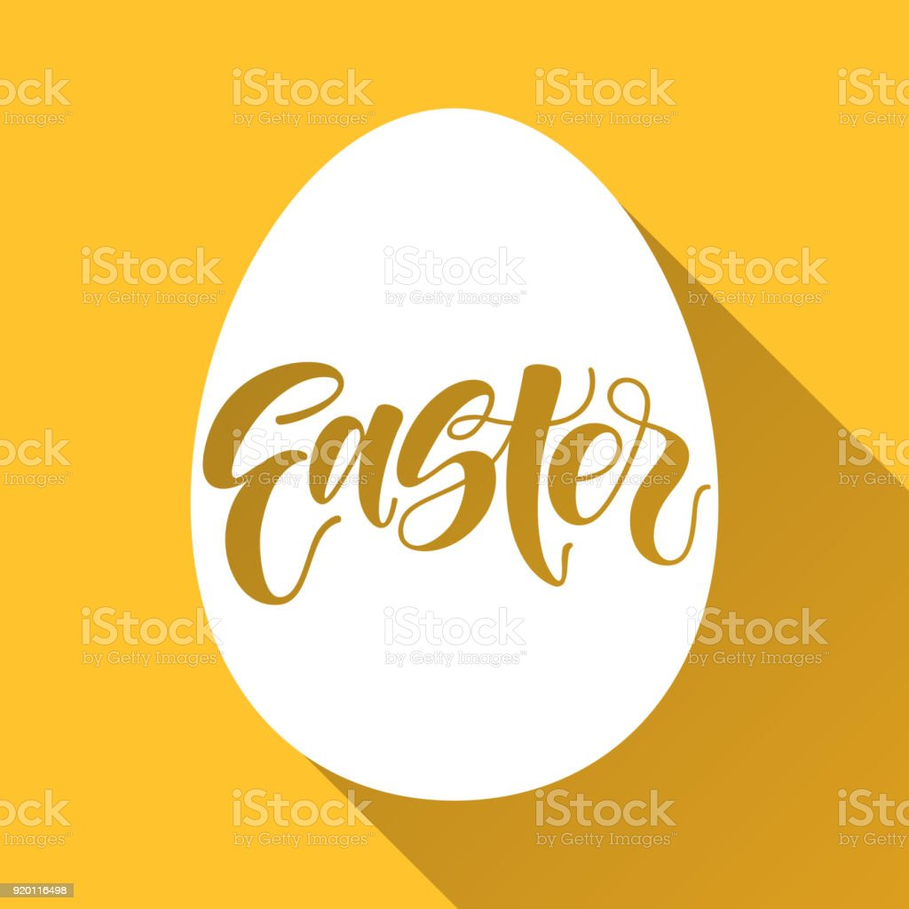 Easter Lettering As Pascha Logotype Badge And Icon Drawn