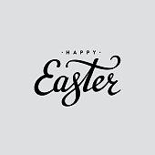 Easter lettering black