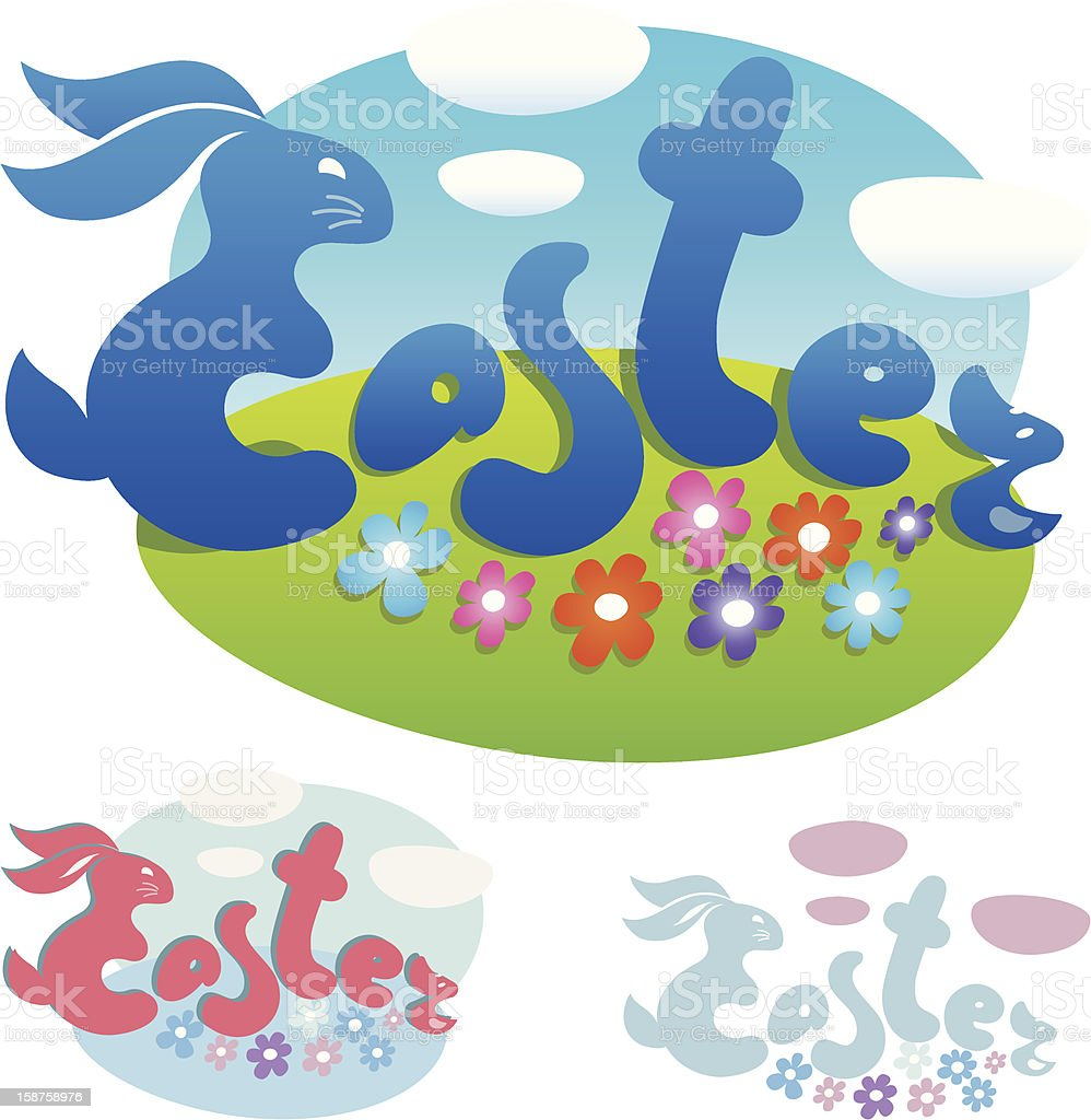 Easter lettering with rabbit royalty-free easter lettering with rabbit stock vector art & more images of art title
