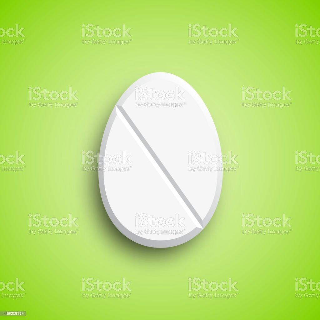 Easter medicine Pill in egg shape, vector illustration royalty-free stock vector art