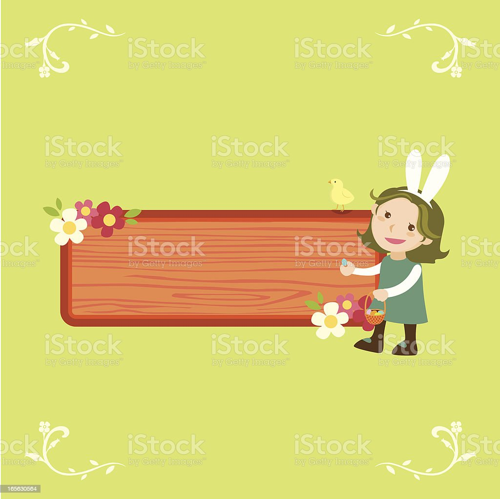 easter message royalty-free stock vector art