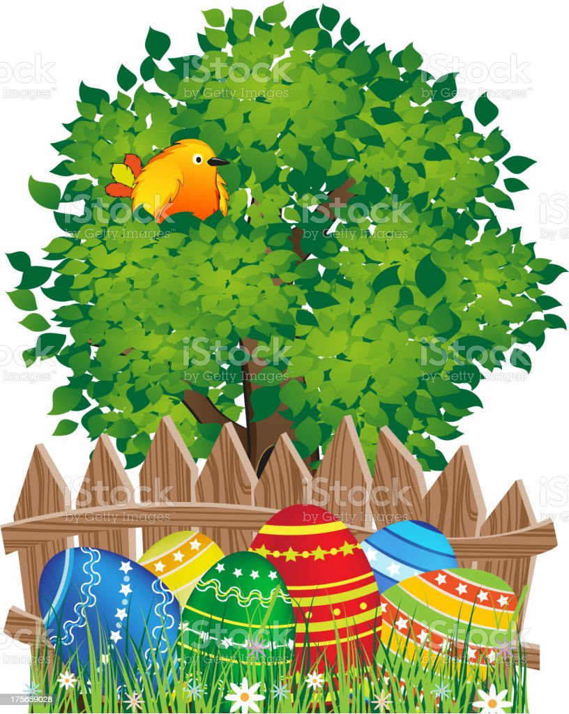 Easter natural scene royalty-free stock vector art