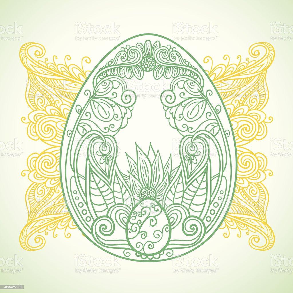 Easter ornament egg royalty-free easter ornament egg stock vector art & more images of animal egg